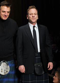 Keifer Sutherland in  kilts.