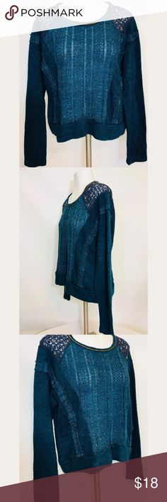 Miss me women's size m open knit sweater Gently used no flaws  Bust 22 in Length 23 in Miss Me Sweaters Crew & Scoop Necks