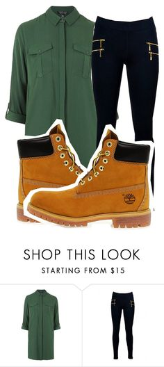 """simple, sassy fall outfit. ❤️"" by queensimi ❤ liked on Polyvore featuring Topshop and Timberland"