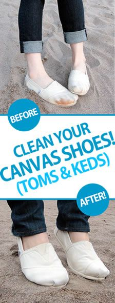 How to clean canvas shoes such as Toms and Keds
