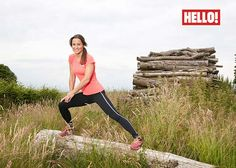Pippa Middleton stretched before a run