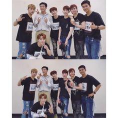 #ONEDAY Reunion   #2AM' #Jinwoon & #Jokwon @ #2PM concert !!  #JYPNATION