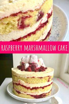 Raspberry Cake, Raspberry Recipes, Pink Marshmallows, Sugar Frosting, Marshmallow Frosting, Smooth Cake, Dragon Cakes, Cake Wrecks, Swiss Meringue Buttercream