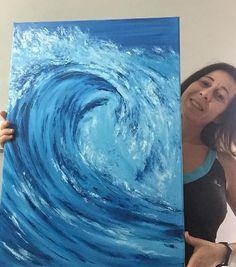 Canvas Art For Beginners Etsy 16 Ideas Diy Canvas Art, Abstract Canvas, Oil Painting On Canvas, Painting Abstract, Oil Paintings, Bedroom Canvas, Bedroom Wall, Surf Decor, Wall Decor