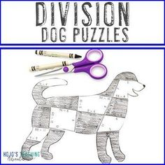 DIVISION Dog Puzzles | Make a Fire Safety Craft Dalmation Activity or Game | 3rd, 4th, 5th grade, Activities, Basic Operations, Games, Homeschool, Math, Math Centers, Mental Math Fire Safety Crafts, Fire Safety Week, 5th Grade Classroom, Classroom Themes, Math Stations, Math Centers, Old Yeller, Reading Recovery, Dog Puzzles