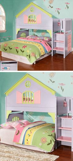 Doll House Loft Bed // I would have loved this growing up!