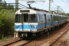 Photo of MBTA Blue Line Train Approaching Suffolk Downs