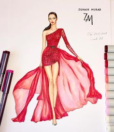 Feyre wearing this Fountain Pen Drawing, Fashion Painting, Fashion Trends, Fashion Design, Mens Fashion, Ladies Fashion, Fashion Sketches, Fashion Drawings, Designer Dresses