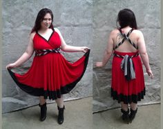 Invader Zim Almighty Tallest Red inspired Cartoon Convertible Dress