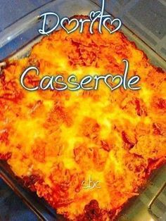 DORITO CASSEROLE Ingredients: 1 bag Doritos (family size) 1 onion, diced 1 lb lean ground beef 1 clove garlic (minced) 1 pkg taco seasoning 1 cup salsa 1 cup sour cream 1 can cream of chic…