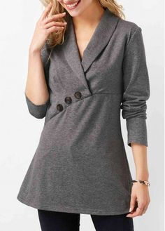 Stylish Tops For Girls, Trendy Tops, Trendy Fashion Tops, Trendy Tops For Women Stylish Tops For Girls, Trendy Tops For Women, Cream T Shirts, Latest Fashion For Women, Womens Fashion, Trendy Fashion, Casual Skirt Outfits, Blouse Styles, Grey Top