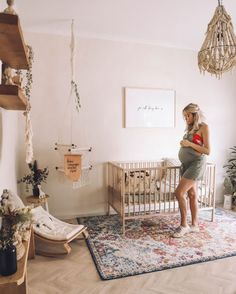 Bring your baby girl home to an adorable and functional nursery. Here are some baby girl nursery design ideas for all of your decor, bedding, and furniture. Baby Room Decor, Nursery Room, Girl Nursery, Girl Room, Nursery Decor, Boho Nursery, Babies Nursery, Simple Baby Nursery, Luxury Nursery