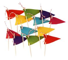 cupcake flags to make (or buy if no time from ACME Party Box)
