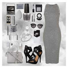 """Look Grey"" by girlyaddict on Polyvore featuring mode, Topshop, Michael Antonio, Alexander McQueen, NIKE, Yves Saint Laurent, LULUS, Dinh Van, MAC Cosmetics et NARS Cosmetics"