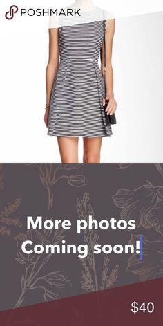 Kate Spade Saturday Dress Beautiful white and navy striped dress by Kate Spade Saturday. Only worn once. Looks great with statement jewelry and with a skinny belt. Will accept reasonable offers. Kate Spade Saturday Dresses Mini