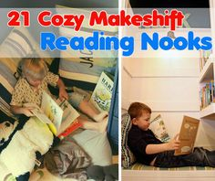 21 Cozy Makeshift Reading Nooks: Creating the perfect reading space doesn't require building a window-seat or converting a closet. Sometimes all you need is lots and lots of pillows in your own little corner of the world.