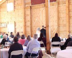 {indoor barn wedding}