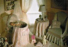 Sleeping baby in a charming nursery...