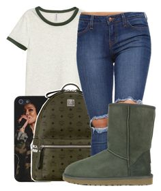 """"" by maiyaxbabyyy ❤ liked on Polyvore featuring H&M, MCM and UGG Australia"