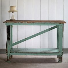 Vintage Turqoise Work Table from Rachel Ashwell Shabby Chic Couture®