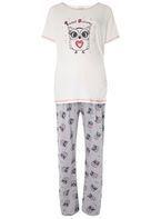 Womens **Maternity Multi Coloured Owl Print Pyjama Set- Multi Colour