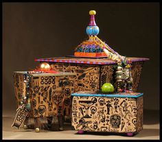 Tattoo Dreams- Eclectic and iconic boxes, vessels, urns and furniture  heckerdesign.com