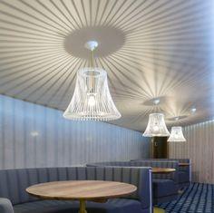Cribbar surf bar by Absolute, Newquay UK store design Pub Design, Retail Design, Restaurant Design, Store Design, Corporate Design, Newquay Uk, Modern Lighting, Lighting Design, Ceiling Decor