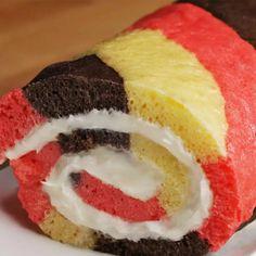 Neapolitan Swiss Roll Recipe by Tasty