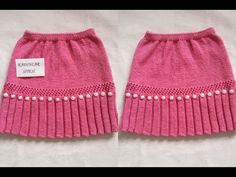 Pleated And Openwork Patterned Pearl Skirt Child Skirt Recipe Making 4 years Alter Pullover, Baby Pullover, Baby Knitting Patterns, Crochet Baby, Knit Crochet, Toddler Vest, Knit Baby Dress, Baby Girl Sweaters, Baby Skirt