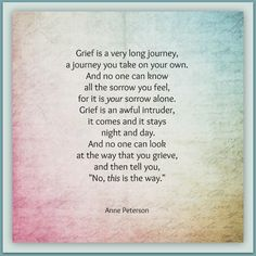 grief, a journey, an intruder, Anne Peterson, poetry, www.annepeterson.com