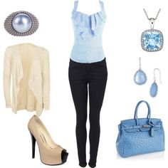 blue and beige and black