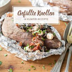 Gefüllt mit Fleisch, Gemüse, Salat und Soßen, werden deine Ofenkartoffeln zu türkischen Kumpir. Hier gibt's 14 leckere Füllungen für deine Knollen.