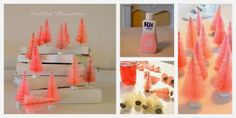 Mammabellarte: PINK Christmas trees  Simple tutorial for dying little Christmas trees!!!