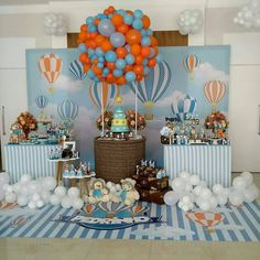 New baby shower boy balloons travel themes 69 ideas Its A Boy Balloons, Baby Shower Balloons, Birthday Balloons, Cute Baby Shower Ideas, Baby Shower Themes, Baby Boy Shower, Baby Showers, Mesas Para Baby Shower, Shower Bebe