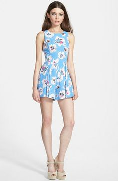 ASTR+Bow+Back+Print+Romper+available+at+#Nordstrom