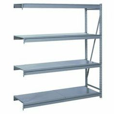 "Bulk Storage Rack Add-On, 4 Tier, Solid Decking, 72""Wx36""Dx96""H Putty by LYON WORKSPACE PRODUCTS. $577.00. Bulk Storage Rack Add-On, 4 Tier, Solid Decking, 72""Wx36""Dx96""H Putty Heavy gauge steel uprights and beams. Adjustable on 1-1/2"" centers. 1650-3300 lbs. capacity per pair of beams. Weight Capacity based on evenly distributed load. 10,000 lbs. per upright assembly."