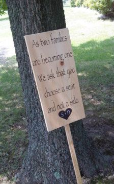 Fabulous idea for the ceremony. One of my college roommates did this at her out-door wedding.