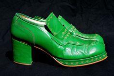 Vintage 70's men's platform shoes size 10 mint condition REGAL high heel Unixsex disco shoes