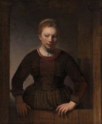 "Rembrandt van Rijn ""Young Woman at an Open Half Door"" Art Institute of Chicago She's wondering where to start..."