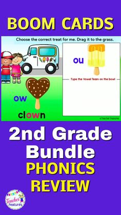 10 interactive Boom Cards Summer-themed decks have movable answers for students to manipulate, with text boxes to type the correct vowels. Assess Long Vowels and R-controlled Vowel knowledge by identifying the correct spellings in words with fun Sum#BoomCards #BoomCardselementary #SummerReview #DistanceLearning #DistanceLearningElementary #BoomCardsphonics #TeacherFeatures #endof yearreview #TpT #secondgradereview #BoomCards2ndGrade #phonics2nd Teaching Phonics, Teaching Resources, Homework Games, Learning Sites, Love Teacher, 3rd Grade Classroom, Long Vowels, Second Grade Math, Interactive Learning