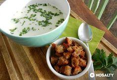 Petrezselymes zellerkrémleves Mozzarella, Pesto, Dog Food Recipes, Food And Drink, Chicken, Cooking, Tableware, Kitchen, Cooking Food
