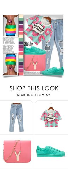 """Shein 2"" by aida-banjic ❤ liked on Polyvore featuring adidas Originals and shein"