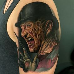 Tattoo done by: Aaron Springs #freddy #krueger