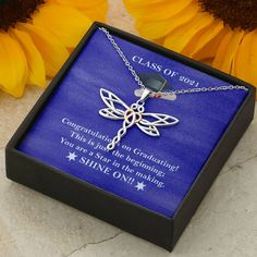 Grad Gift Necklace - Perfect gift for new graduate, graduation present – Shiny Jewelry Charm Dragonfly Necklace, Dragonfly Pendant, Pendant Necklace, 16th Birthday Gifts, Sweet 16 Birthday, Sweet 16 Gifts, Great Gifts, Give It To Me, Just For You