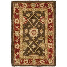 "Safavieh Anatolia Olive & Rust Area Rug Rug Size: 9'6"" x 13'6"""