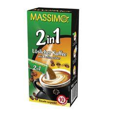 Massimo 2 in1 Kaffee mit Kaffeeweißer 160 Sticks á 14g ist das ideale Kaffee-Heißgetränk für Unterwegs, Freizeit, Sport, Arbeit und Daheim.