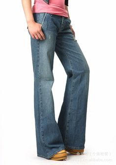 New sale spring autumn 2014 brand women wide leg pants jeans denim hip hop harem 4xl plus size cargo pants & capris trousers