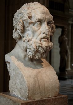 Homer. Pentelic marble. Roman, 2nd century CE. Inv. No. MR 530 (Ma 440). Paris, Louvre Museum (Photo by Sergey Sosnovskiy).