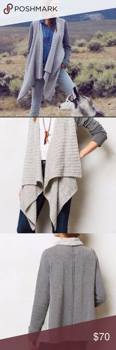 Anthropologie Saturday Sunday gray Casado cardigan Good used condition Anthropologie Sweaters Cardigans