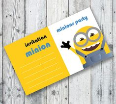 MINIONS Party INVITATION Printable Birthday Party by OopsyIdeas